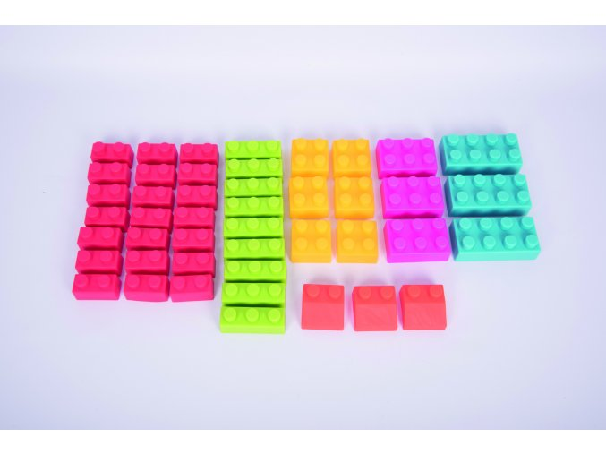 Sada měkkých kostek (45 ks) / Chunky Soft Brick Set  (45 pc)