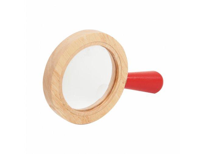 Dřevěná lupa / Wooden hand lens