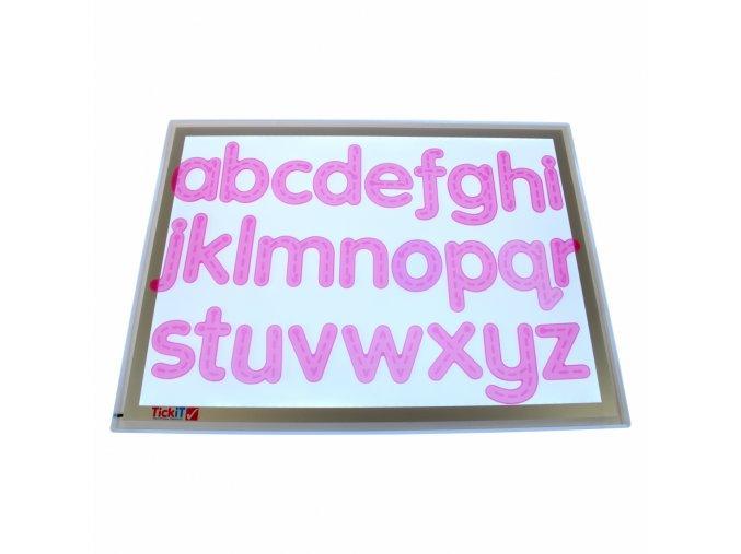Písmená - růžové silikónové (26 ks) / Silishape Trace Alphabet-Pink (26 pc)