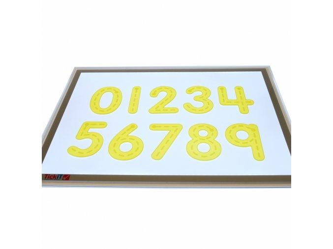 Číslice - žluté silikónové (10 ks) / Silishape Trace Number-Yellow (10 pc)