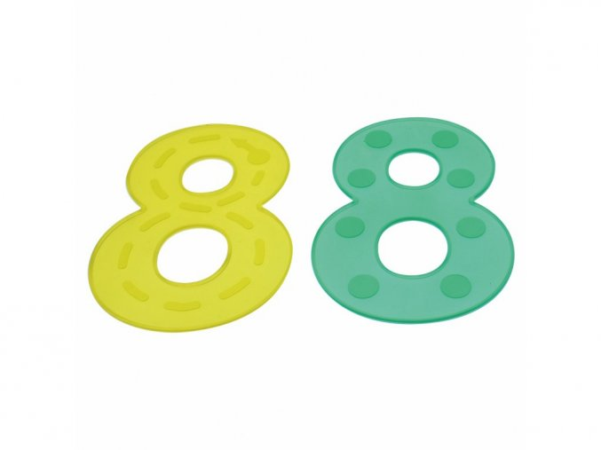 Číslice - zelené silikónové (10 ks) /Silishape Dot Numbers-Green (10 ks)