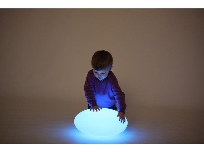 Senzorický světelný oblázek (1 ks) / Sensory Mood Light Pebble (1 pc)
