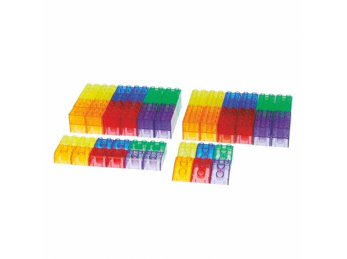 Průhledné barevné kostky (90 ks) / Translucent Module Blocks (90 pc)