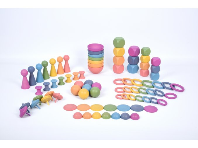 Rainbow Wooden Super Set PK84