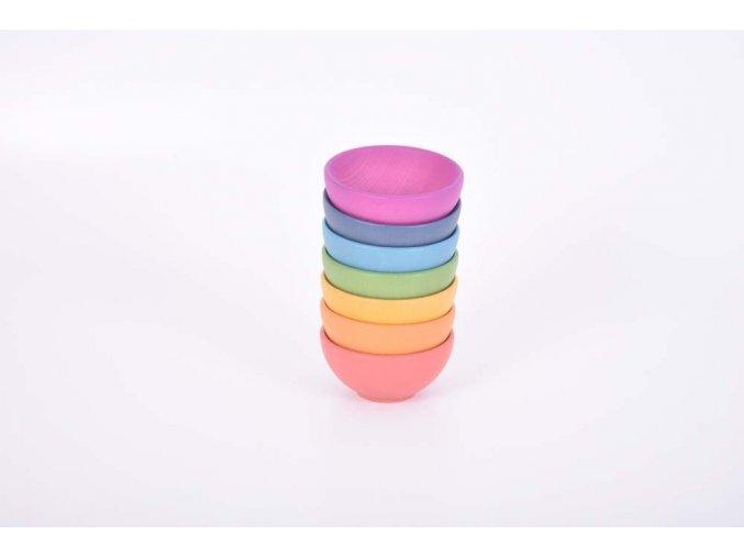 Rainbow wooden bowls
