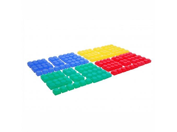 Sada silikónových kostek (72 ks)  / Silishape Soft Bricks (72 pc)