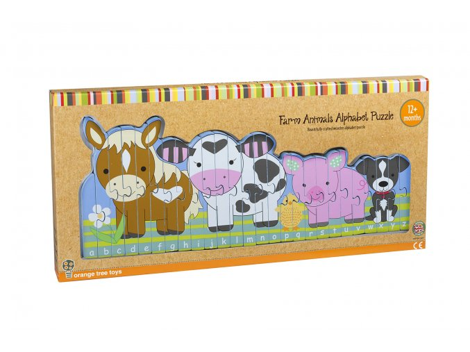 Puzzle abeceda farma / Farm Animals Alphabet Puzzle