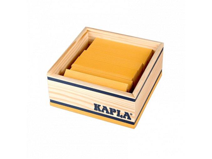 Kapla monocolor sada 40 žlutá