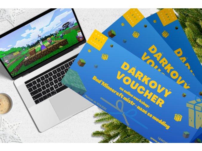 Voucher na online workshop: Buď Minecraft mistr - nauč se modding. (Pro děti ve věku 8-12 let)
