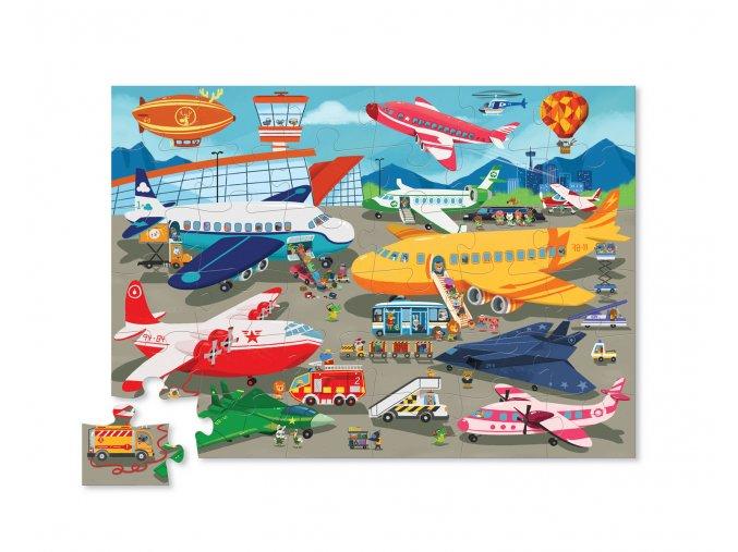 Puzzle - Letiště (36 ks) / Shaped Puzzle - Busy Airport /(36 pc)