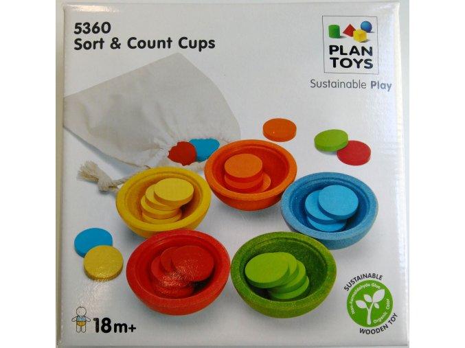 Plan Toys - Třídící kalíšky