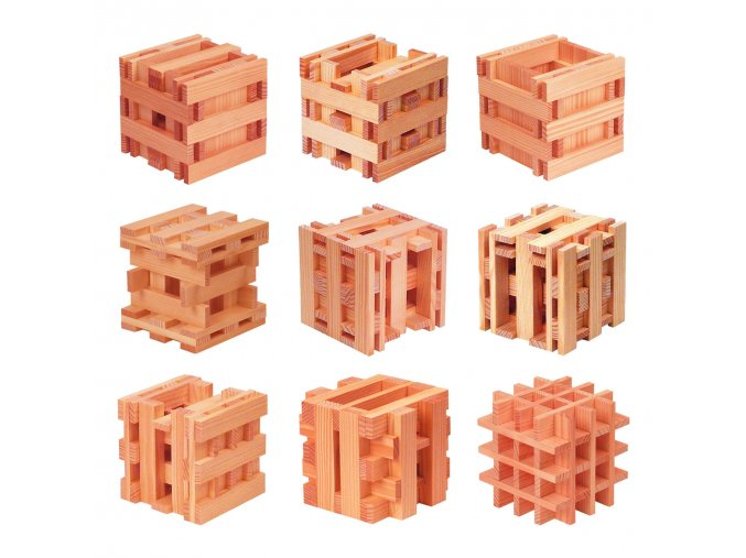 Kapla Cube - hlavolam přírodní barva