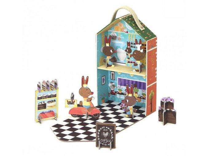 Cestovní set v kufříku - Bunny pekárna