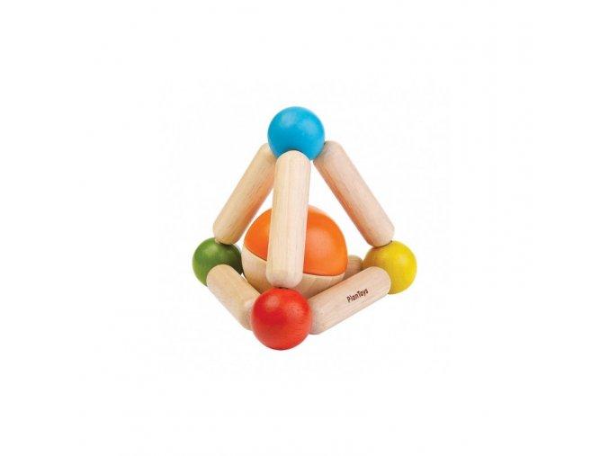 Plan Toys - Tvarovací chrastítko - Triangle