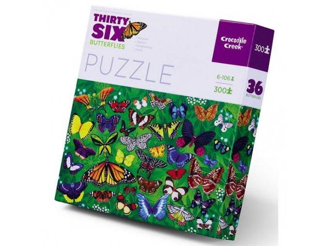croc creek 36 animal puzzle butterflies 300pc 1