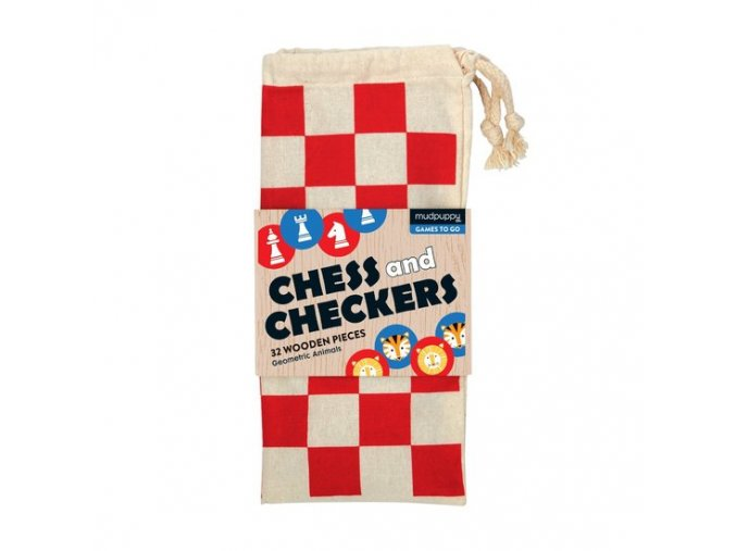 mudpuppy chess checkers geometric animals 1