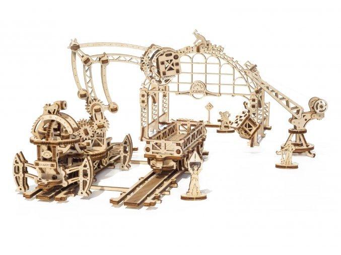 Dřevěné 3D mechanické železniční manipulátor