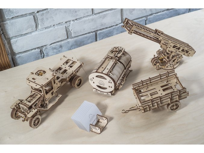 Dřevěné 3D mechanické puzzle doplňky (pro UGM-11)