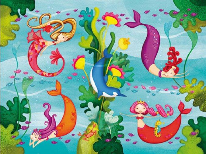 Mini Puzzle Mořské panny (24 ks)