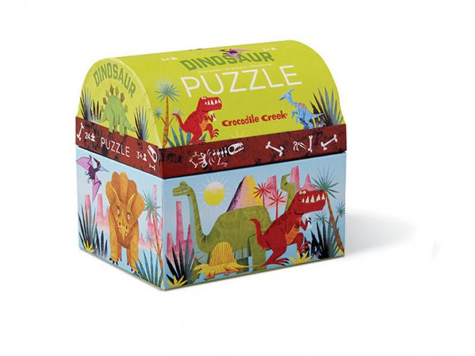 Mini puzzle truhla - Dinosauři (24 ks) / Mini puzzle chest - Dinosaur (24 pc)