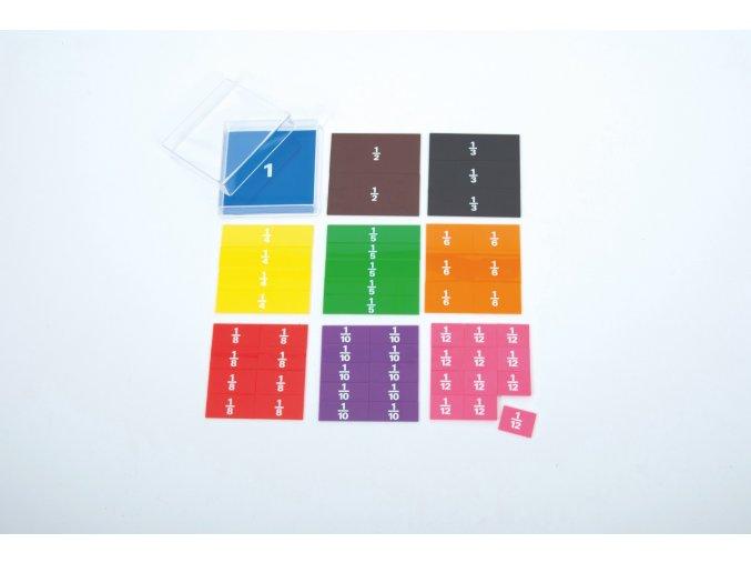 Barevné zlomky čtverce (Fraction squares-printed)