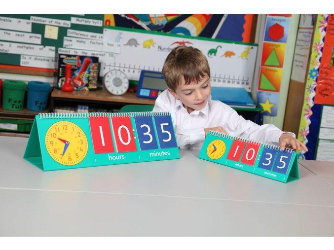 Kolik je hodin? Student (Tell time flip chart student)