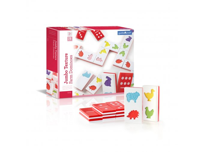 Velké hmatové domino- Farma / Jumbo texture farm dominoes