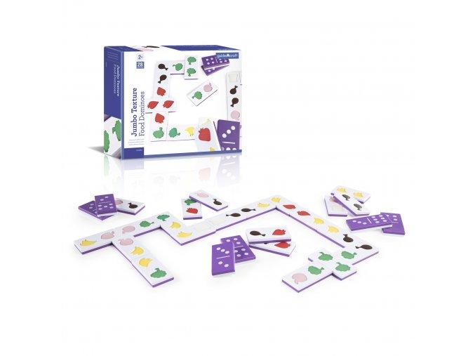 Velké hmatové domino - Jídlo / Jumbo texture food dominoes