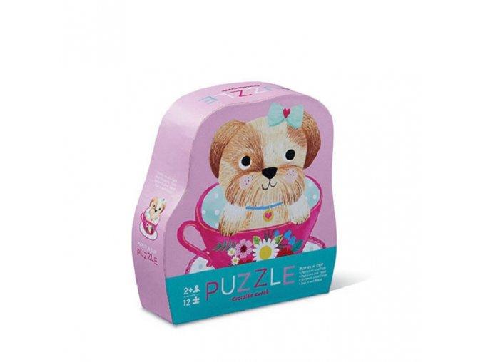 Mini puzzle - Štěňátko (12 ks) / Mini Puzzle - Pup in a Cup (12 pc)