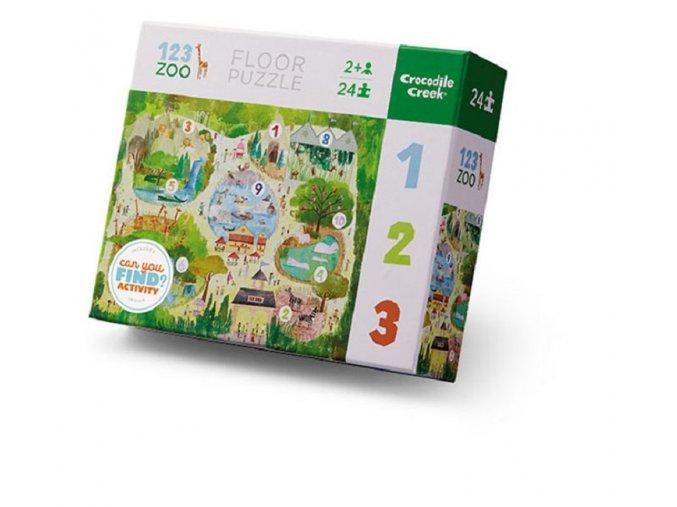 pol pl Puzzle podlogowe 24 el Wczesna edukacja Cyfry 123 w zoo Crocodile Creek 4185 3 19714 1