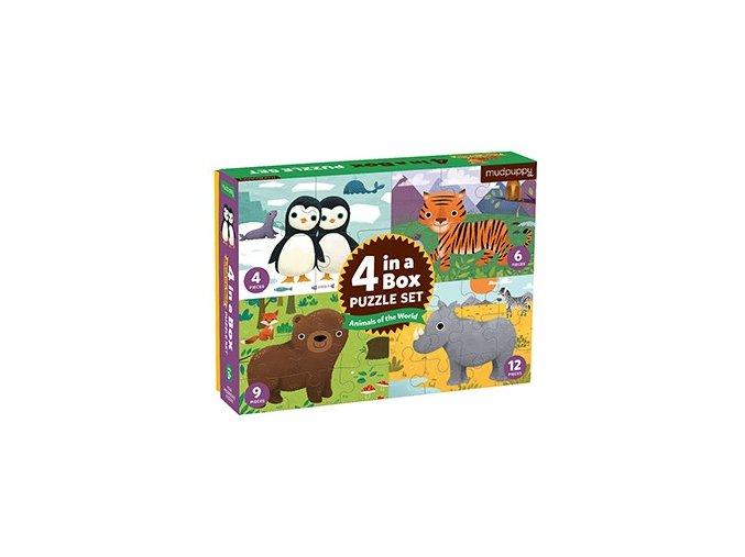 Puzzle 4 v 1- Zvířátka