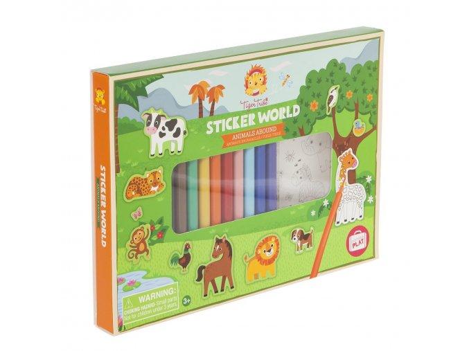 Kreativní set- Zvířátka / Sticker World Animals Abound