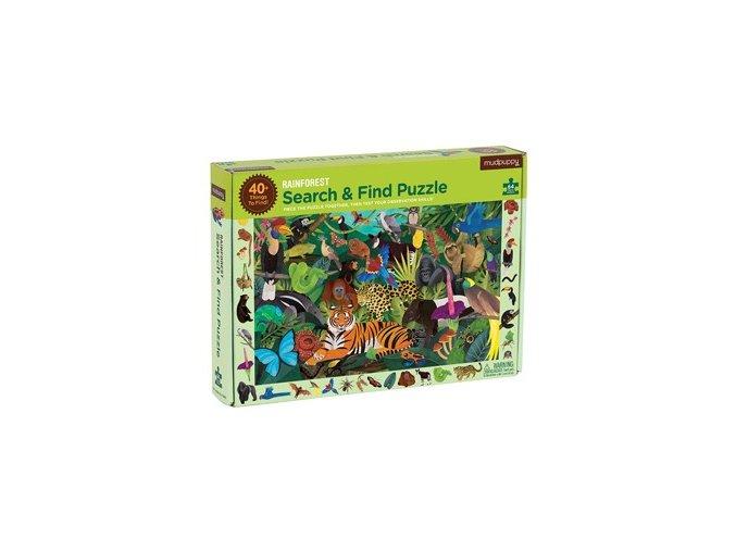 Puzzle- Poskládej a najdi- Prales