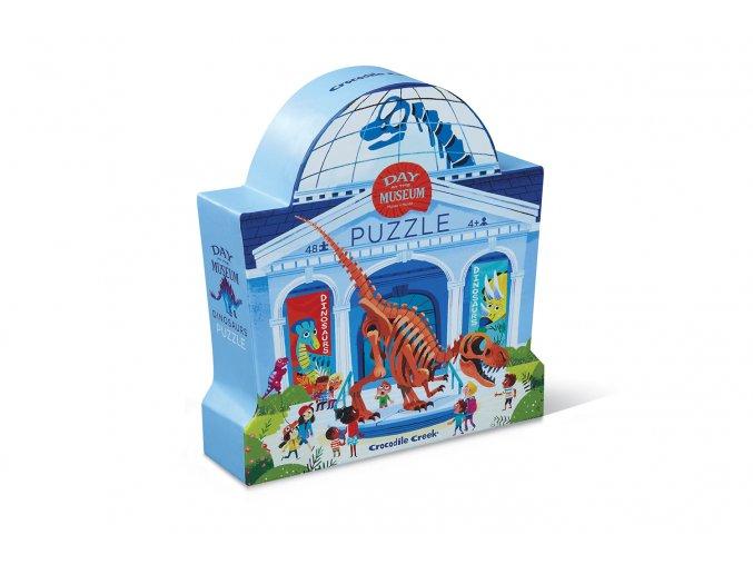 pol pl Puzzle 48 el Dzien w muzeum Dinozaury Crocodile Creek 4063 1 19693 1