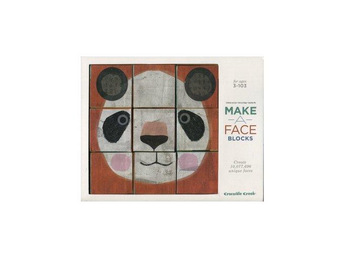 Tvoř obličeje - skládací kostky / Make a face blocks
