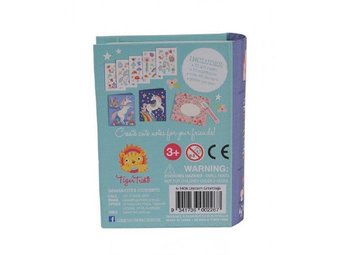 Mini pohlednice -  Jednorožec / Unicorn Greetings