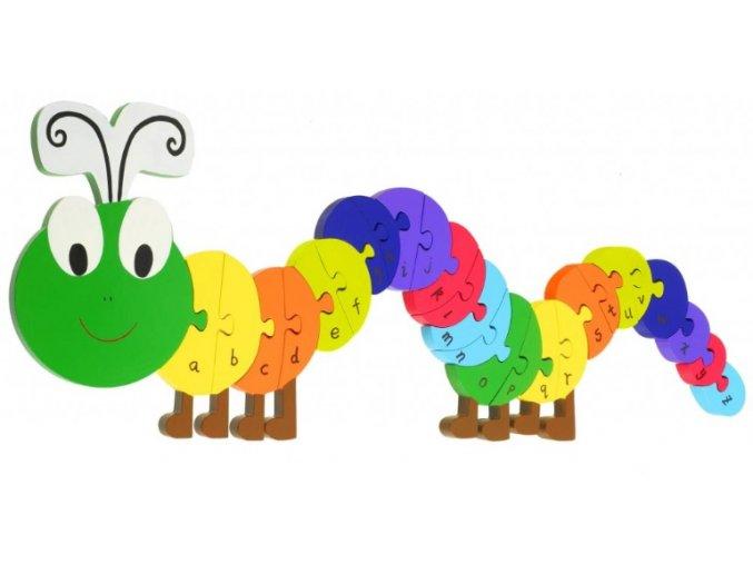 Puzzle abeceda - Housenka / Alphabet Puzzles - Caterpillar