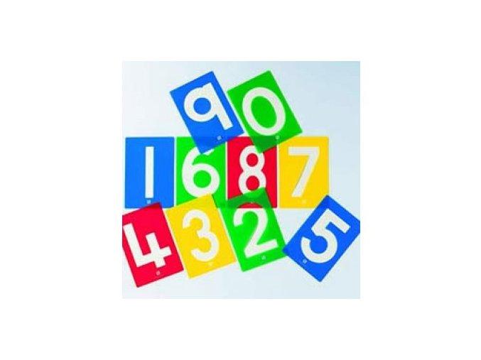 Číselné šablony set / Number stencils set