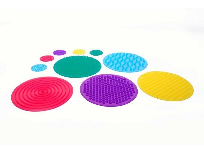 Smyslové silikonové pexeso / Silishapes, sensory circle set