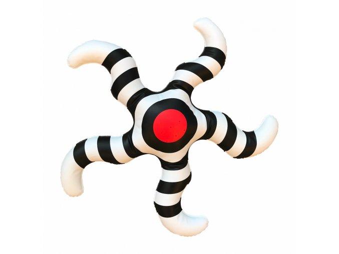 Černobílá hvězdička s červeným
