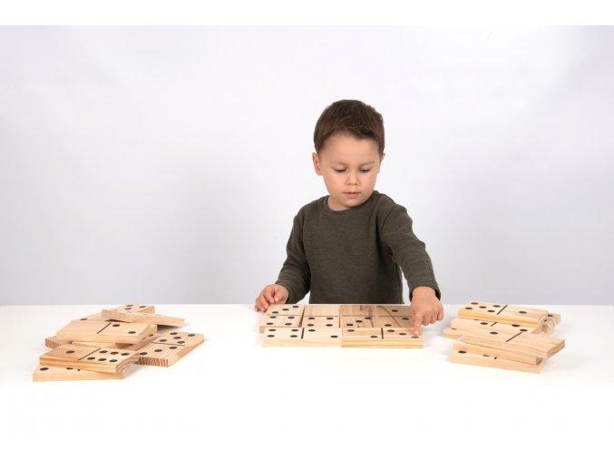 Dřevěné domino / Wooden Dominoes 7,5x15x1,5 cm