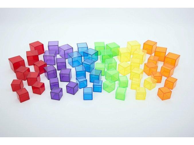 Průsvitná sada krychlí / Translucent Cube Set 54ks