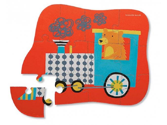 Mini puzzle - medvědí expres (12 dílků) / Mini Puzzle Bear Express
