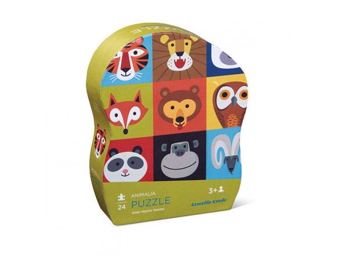24 pc Mini Puzzle/Animalia