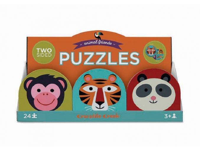 24 PC Round 2-Sided/Monkey Friends