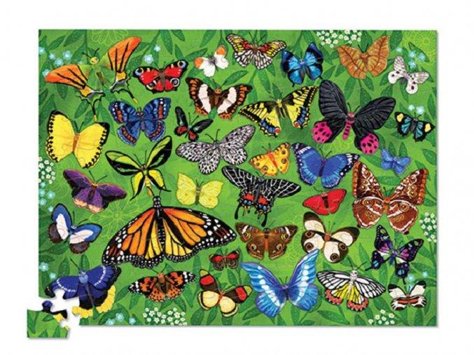 Puzzle tubus - 36 Motýlů (100 ks) / Puzzle Canister - 36 Butterflies (100 pcs)