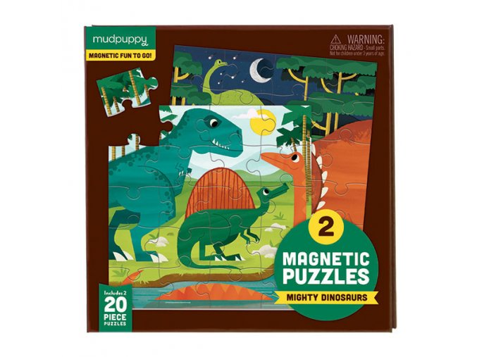 Magnetické puzzle - Dinosaurus / Magnetic Fun - Mighty Dinosaurs