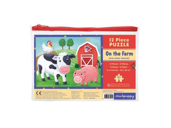Pouch Puzzles/On the Farm (12 pcs)