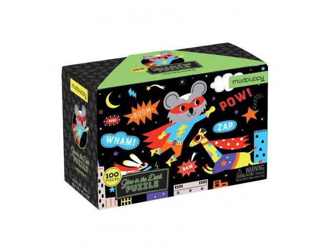 MP GlowPuz Superhero CVR 9780735354012