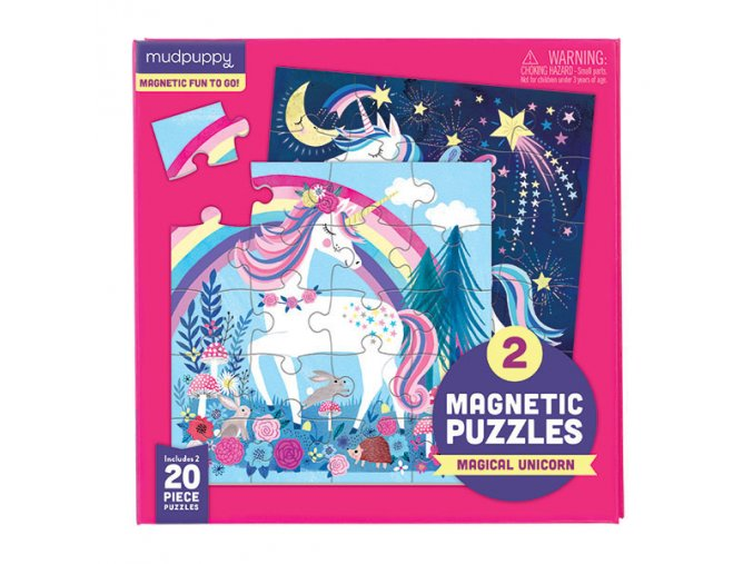 Magnetické puzzle - Jednorožec / Magnetic Fun - Magical Unicorns